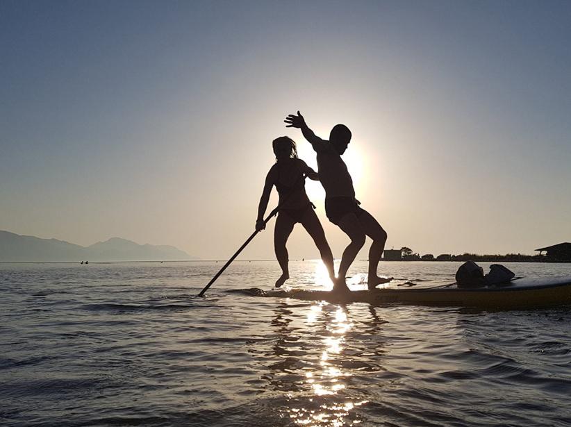 paddle - coucher de soleil