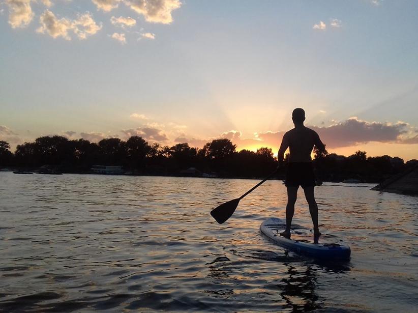 paddle à Belgrade