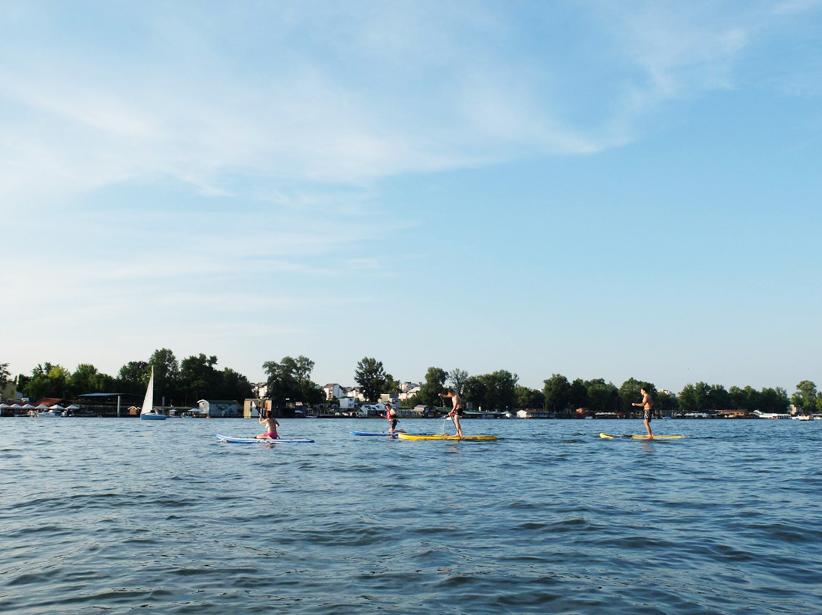 Faire du paddle à Belgrade