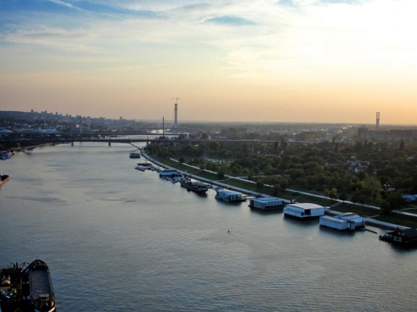 Belgrade : vue de la Sava @happy seine