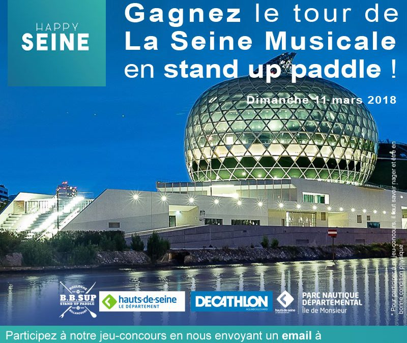 JEU-CONCOURS. L'incroyable tour de La Seine Musicale en paddle