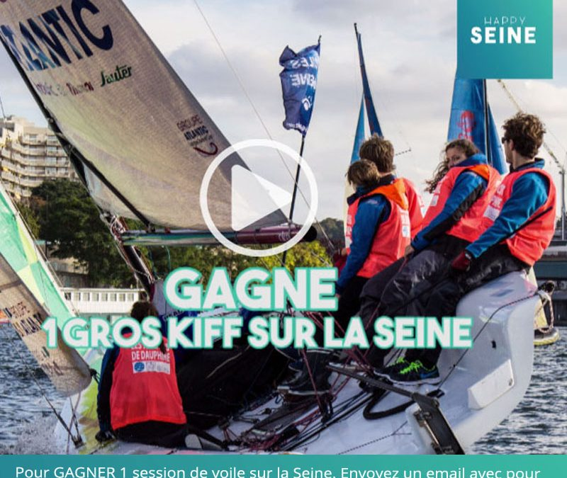 MAGIQUE. Gagnez 1 session de bateau à voile sur la Seine