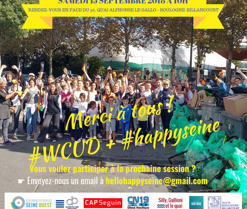 Quand Happy Seine participe au World Clean Up Day sur les berges de Seine