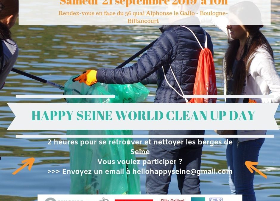 Happy Seine World Clean Up Day : samedi 21 septembre 2019 sur le Port Legrand