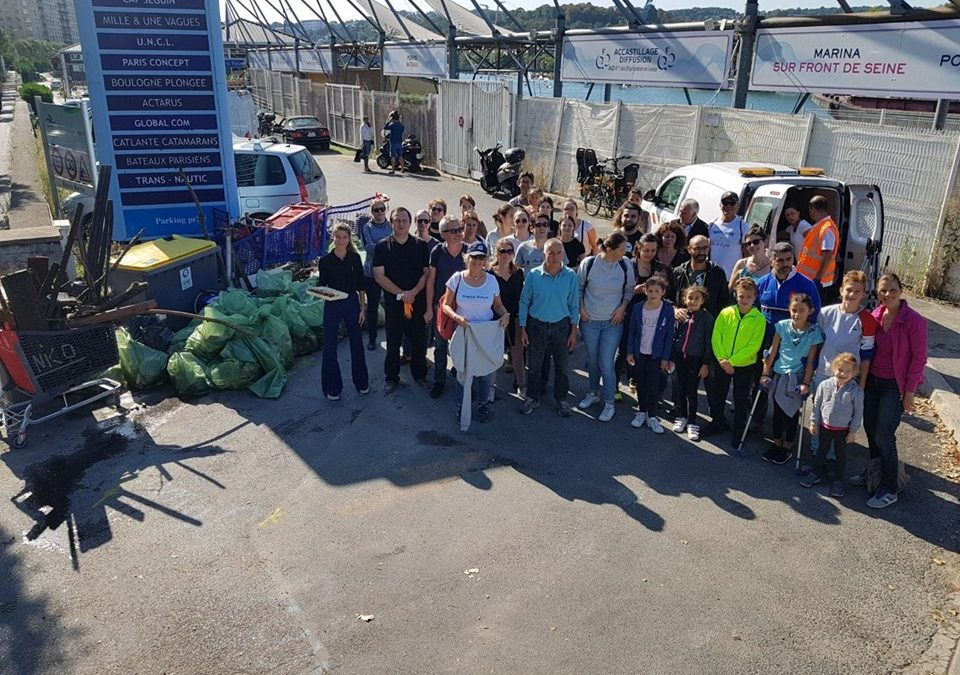 PHOTOS. Happy Seine World Clean Up Day : une mobilisation totale sur les berges de Seine du Port Legrand à Boulogne-Billancourt